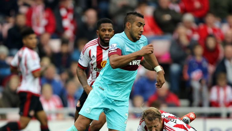 Dimitri Payet scored West Ham's equaliser when they drew 2-2 at Sunderland earlier in the season