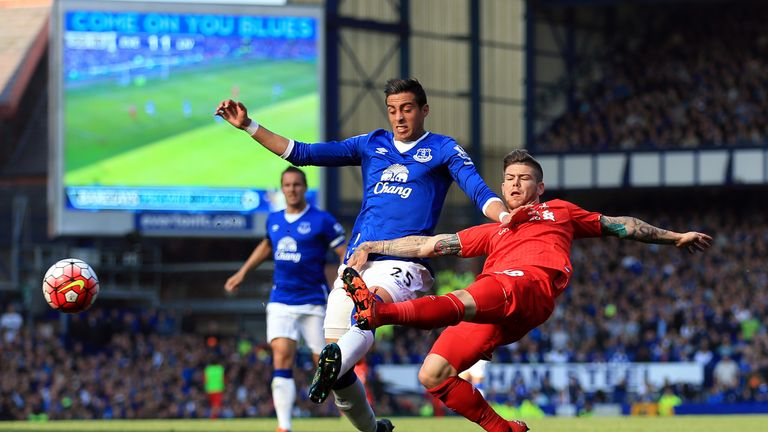Liverpool's Alberto Moreno (right) ranks top for chances created by defenders