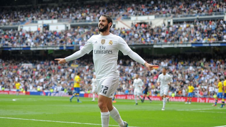 Isco celebrates after scoring his team's opening goal