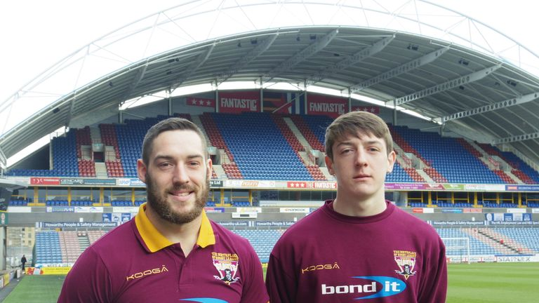 Joe Wardle (left) will be joined by his younger brother Jacob at Huddersfield