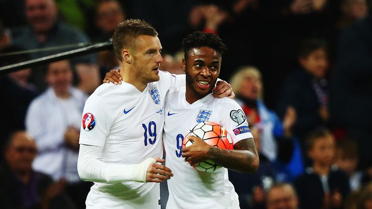 Jamie Vardy's form has been recognised by England manager Roy Hodgson