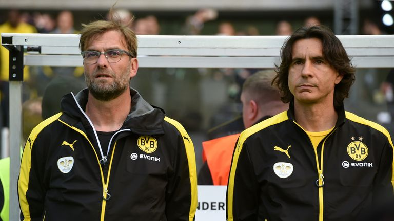 Zeljko Buvac (right) is expected to come with Klopp to Liverpool if the appointment is made