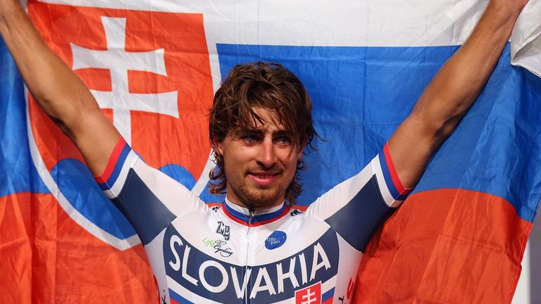 Peter Sagan won the World Championship road race on Sunday