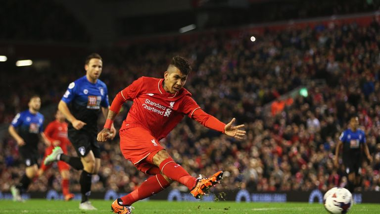 Firmino starred for Liverpool in their win over Bournemouth