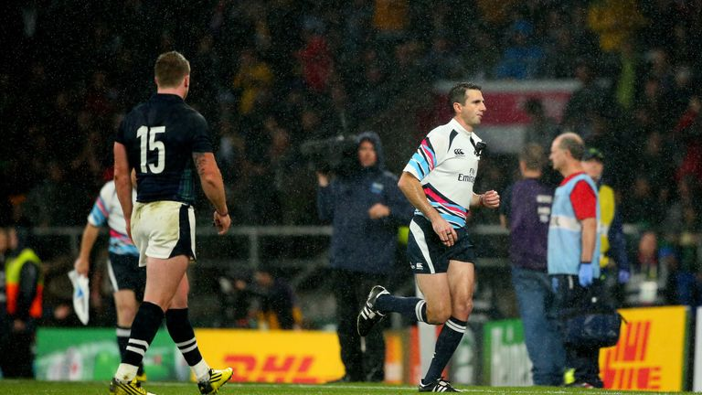 Joubert has been criticised for sprinting off at the final whistle