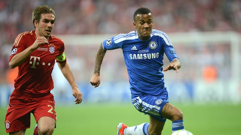 Bertrand started for Chelsea against Bayern Munich in the 2012 Champions League final