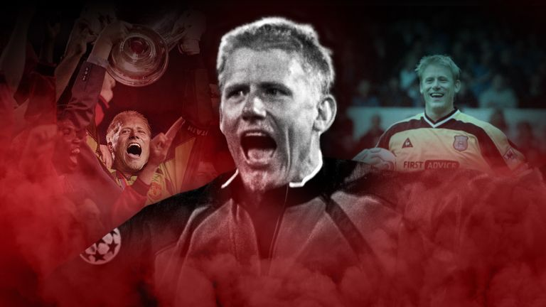 Peter Schmeichel spent eight years at Manchester United and a season at City