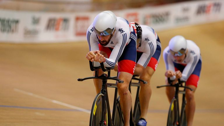 Wiggins and the rest of Britain's men's pursuit team could only finish fifth in Colombia