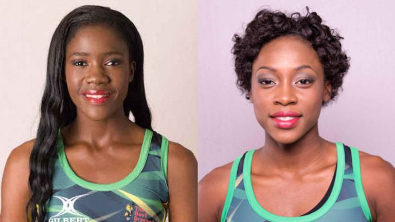 Shanice Beckford (left) and Nicole Dixon (right), will join Team Northumbria for next season's Netball Superleague
