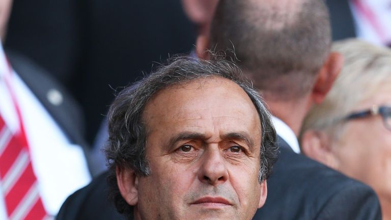 Platini currently suspended for 90 days pending  ethics committee hearing
