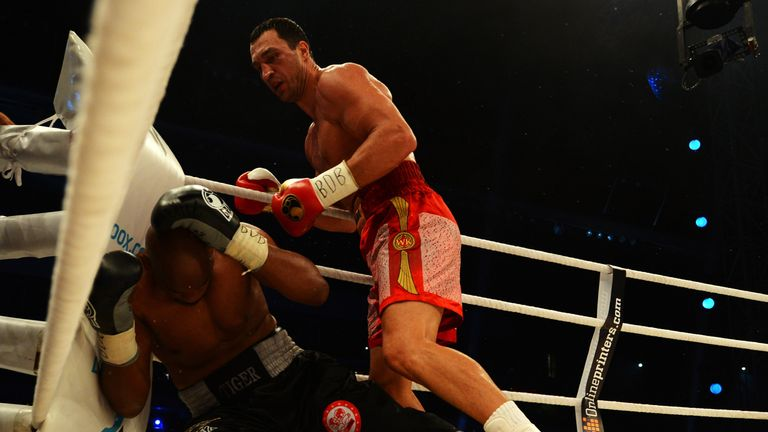 Klitschko knocked out Thompson for a second time in 2012