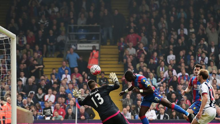 Yannick Bolasie scored Crystal Palace's first goal against West Brom