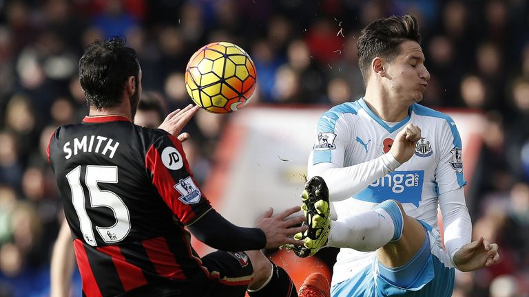 Bournemouth defender Adam Smith (left) has been one of the Premier League's top tacklers
