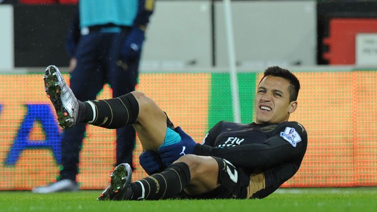 Sanchez picked up a hamstring injury during the second half against Norwich
