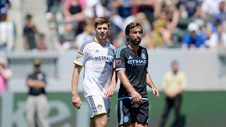 Steven Gerrard and Andrea Pirlo, two of MLS' marquee signings