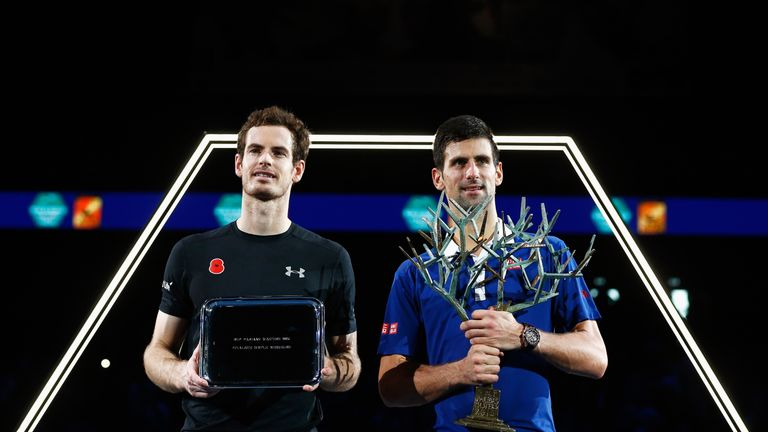 Murray was well beaten by Novak Djokovic and wants better results against the Serb and Roger Federer