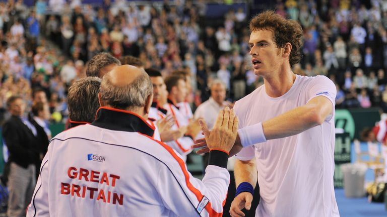 Murray won a rubber without losing a game in 2011 against Luxembourg