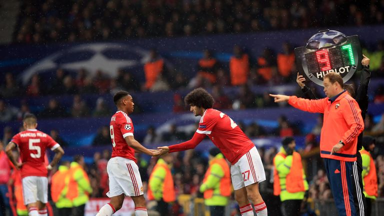 Anthony Martial's substitution was greeted with discontent at Old Trafford