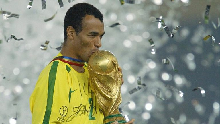 Cafu captained Brazil to World Cup success in 2002