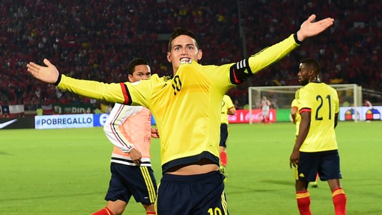 James Rodriguez scored for Colombia this week but has missed much of this season with injury