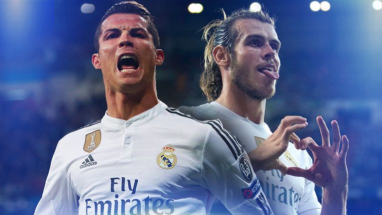 Real Madrid stars Cristiano Ronaldo and Gareth Bale