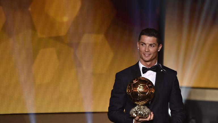 Real Madrid's Cristiano Ronaldo has won two of the last three Ballon d'Or prizes