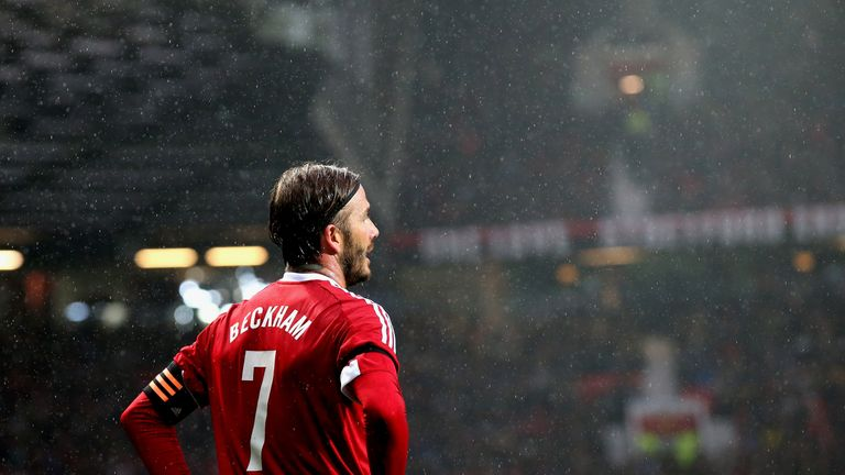 acf46a5aa0b64 David Beckham was back in his favoured No 7 during Saturday's during the  Match for Children