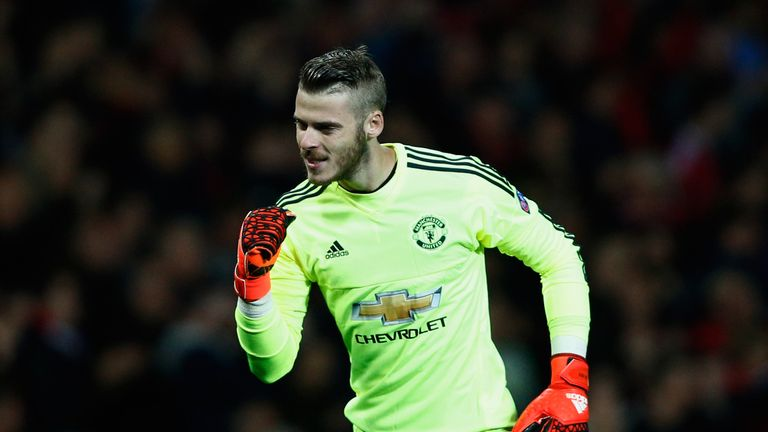 David De Gea of Manchester United has dropped the ball just once this season