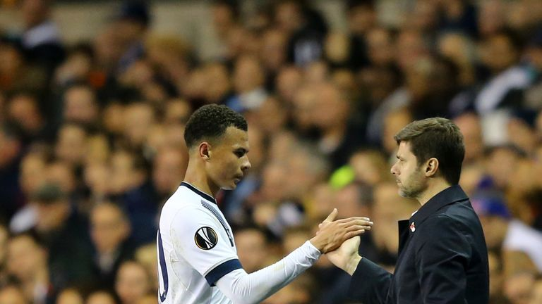 Mauricio Pochettino (right) has developed an exciting, young team at Spurs