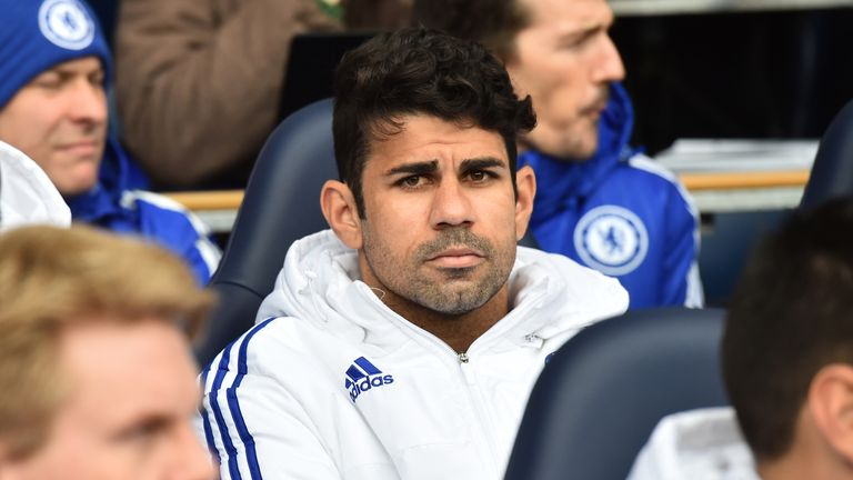 Costa started on the bench for Chelsea at Tottenham