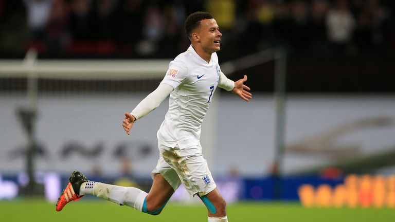 Alli marked his first start for England with a fine goal against France