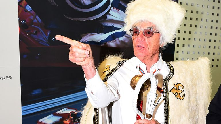 The emperor's clothes: F1 supremo Bernie Ecclestone points the way at the Russian GP - Picture by Mark Sutton, Sutton Images