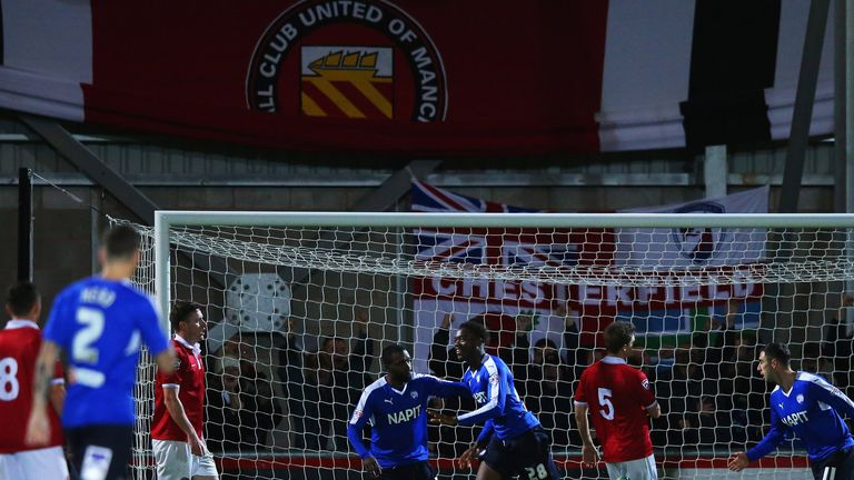 Gboly Ariyibi scored for Chesterfield