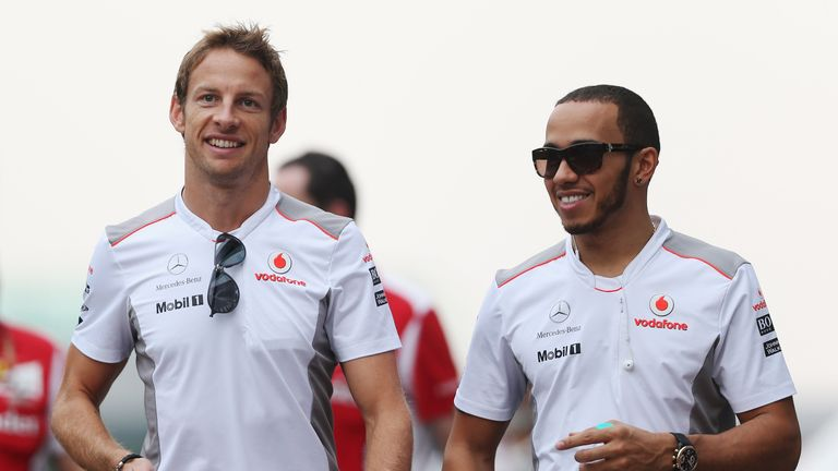 Button and Hamilton were team-mates for three seasons at McLaren at the start of the decade