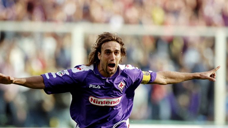 Gabriel Batistuta scored 11 goals in 11 games for Fiorentina during the 1994-95 season
