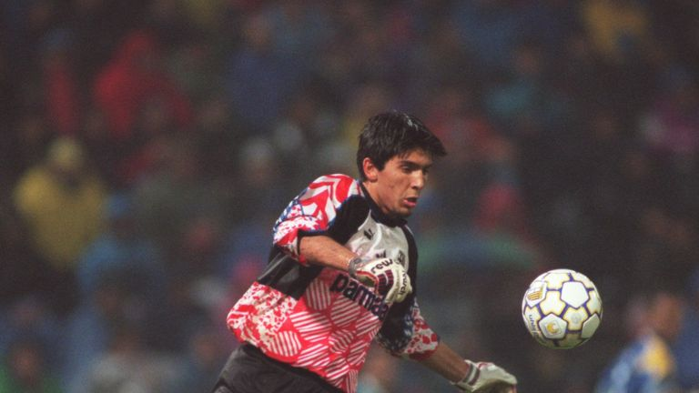 Buffon made his debut for Parma against AC Milan in 1995