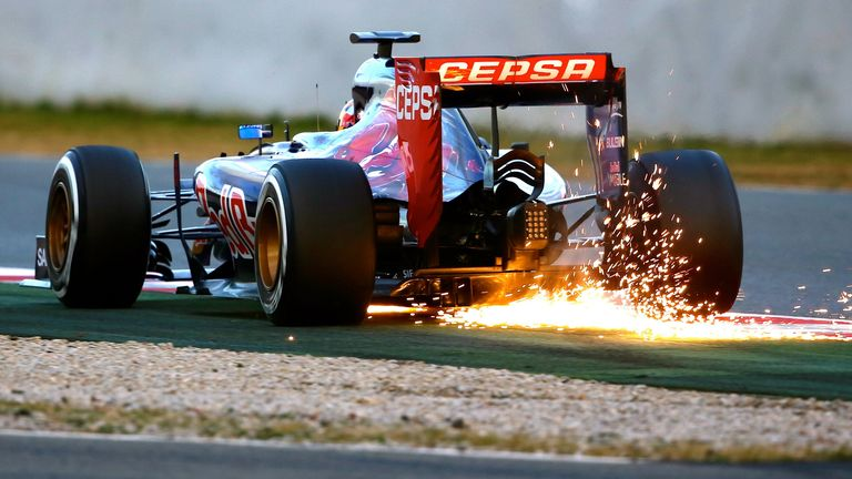 The spark of a new star: Max Verstappen catches the eye, as he would throughout 2015, during testing at Barcelona - Picture by Jerry Andre, Sutton Images