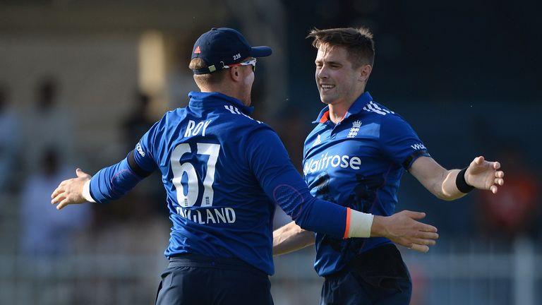 Team-mates turned opponents... Woakes and Jason Roy (L) face each other in the Royal London One-Day Cup final