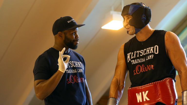 Johnathon Banks puts Wladimir Klitschko through his paces in Austria ahead of the Tyson Fury fight