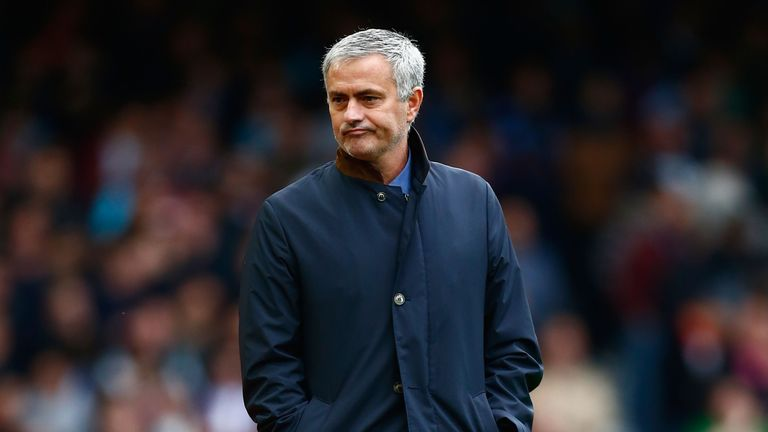 Jose Mourinho is under pressure at Chelsea after a run of three wins from 11 Premier League games