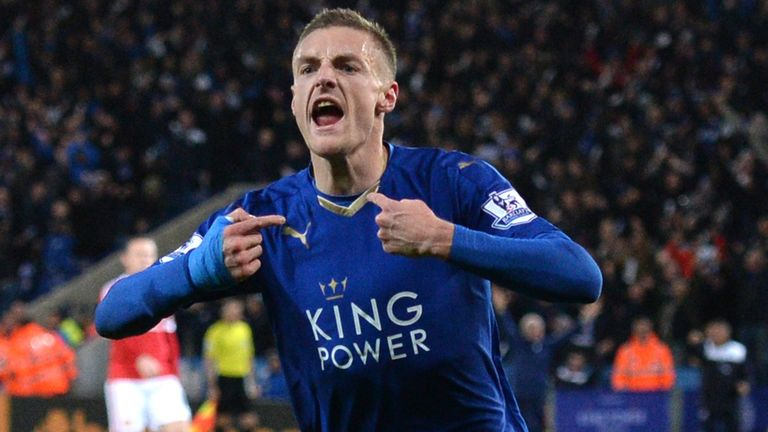 Jamie Vardy has scored 15 goals in 16 league games this season