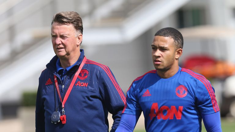 Louis van Gaal said Depay had not lived up to expectations at Manchester United