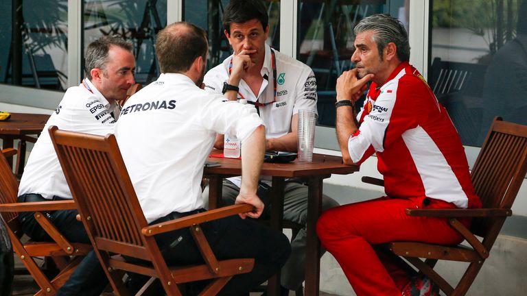 Mercedes in discussion with Ferrari boss Maurizio Arrivabene