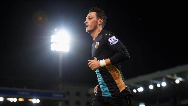Mesut Ozil ranks top for chances created in the Premier League this season