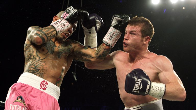 Saul 'Canelo' Alvarez (right) defeated Miguel Cotto
