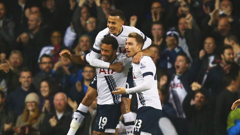 Mousa Dembele (left) and Christian Eriksen (right) could be rested for the Dortmund second leg