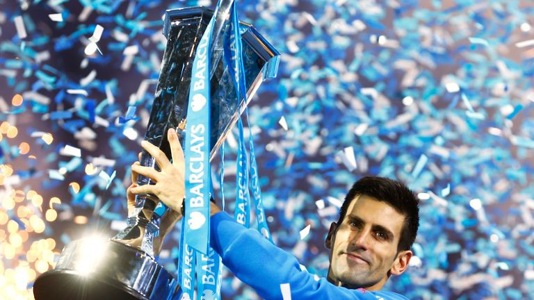 Novak Djokovic will be aiming to lift a record-equalling sixth ATP Finals crown