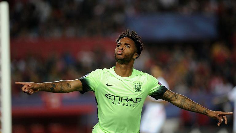 Raheem Sterling has scored four Premier League goals for Man City this season