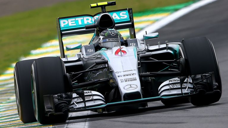 Nico Rosberg was quickest in Practice Two