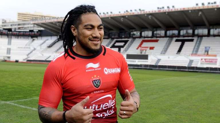 Ma'a Nonu is unveiled at the Stade Felix Mayol on Monday